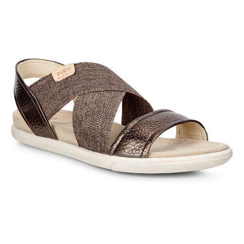 Womens Ecco Damara 2-Strap Sandals Shoe - Licorice/Powder 40