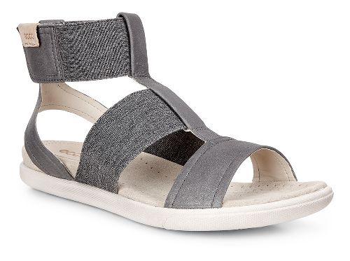 Womens Ecco Damara Ankle Strap Sandals Shoe - Dark Shadow 38