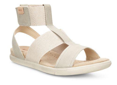 Womens Ecco Damara Ankle Strap Sandals Shoe - Gravel 37