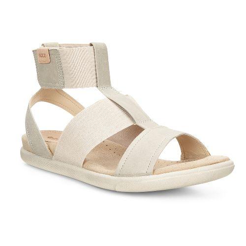 Womens Ecco Damara Ankle Strap Sandals Shoe - Gravel 39