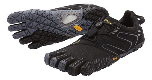 Womens Vibram FiveFingers V-Trail Running Shoe - Black/Grey 38