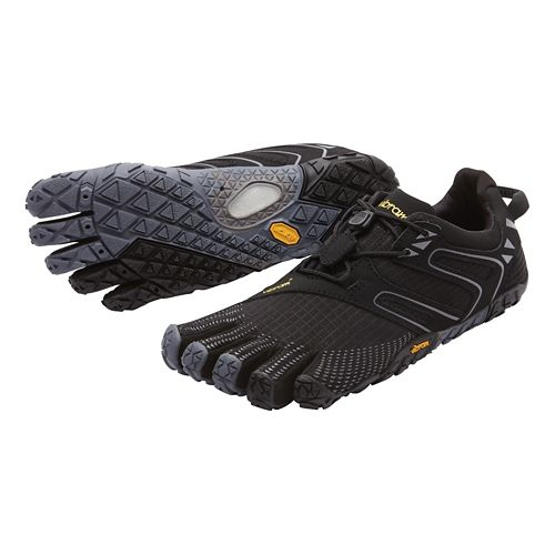 Womens Vibram FiveFingers V-Trail Running Shoe - Black/Grey 40