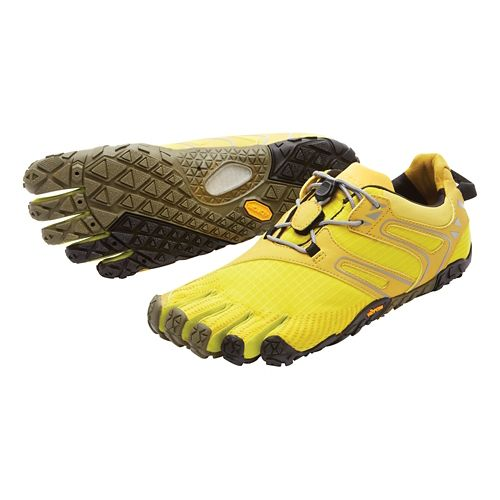 Womens Vibram FiveFingers V-Trail Running Shoe - Grey/Orange 37