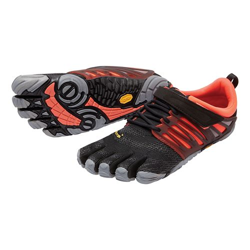 Womens Vibram FiveFingers V-Train Cross Training Shoe - Black/Coral 38