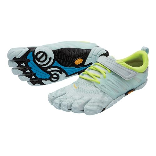 Womens Vibram FiveFingers V-Train Cross Training Shoe - Blue/Yellow 41