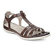 Womens Ecco Flash T-Strap Sandals Shoe - Coffee 41
