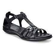 Womens Ecco Flash T-Strap Sandals Shoe - Black 38