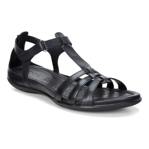 Womens Ecco Flash T-Strap Sandals Shoe - Black 41