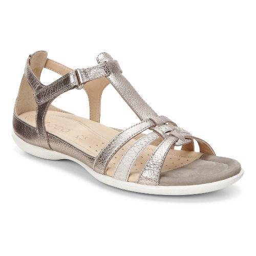 Womens Ecco Flash T-Strap Sandals Shoe - Warm Grey 42