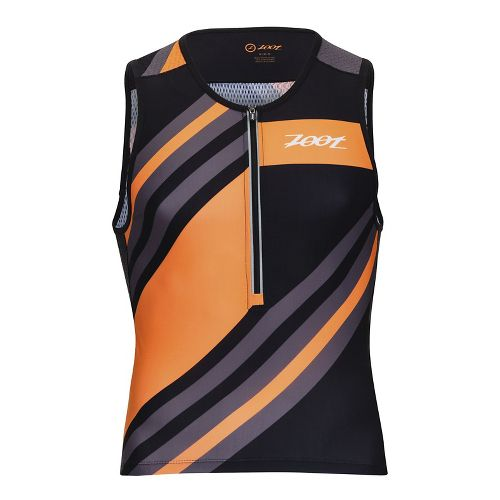Mens Zoot Ultra Tri Sleeveless & Tank Tops Technical Tops - Racing Stripe L