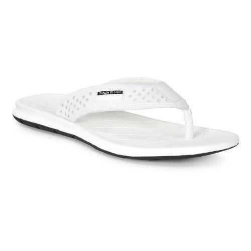 Womens Ecco Intrinsic Thong Sandals Shoe - White 36