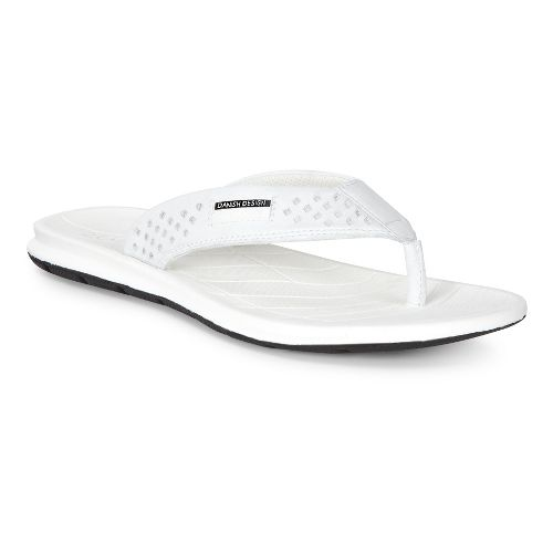 Womens Ecco Intrinsic Thong Sandals Shoe - White 40