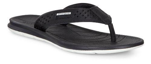 Womens Ecco Intrinsic Thong Sandals Shoe - Black 37