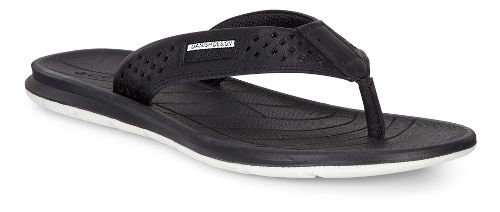 Womens Ecco Intrinsic Thong Sandals Shoe - Black 42
