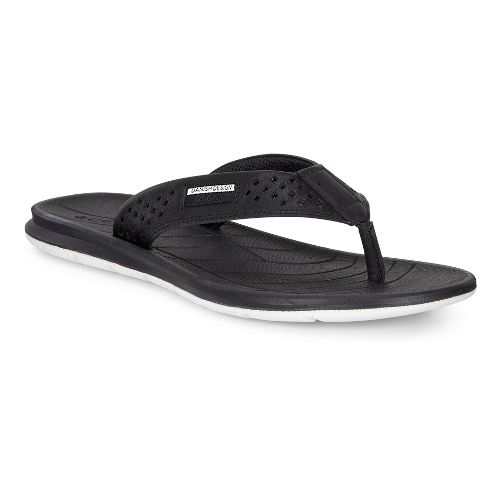 Womens Ecco Intrinsic Thong Sandals Shoe - Black 37
