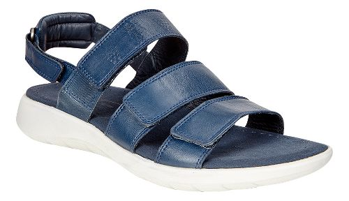 Womens Ecco Soft 5 3-Strap Sandals Shoe - True Navy 36