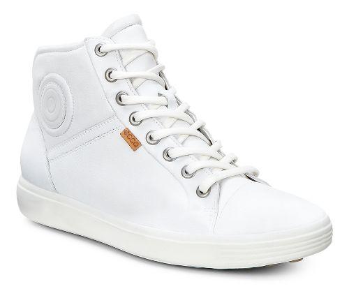 Womens Ecco Soft 7 High Top Casual Shoe - White 35