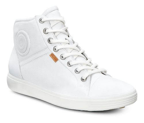 Womens Ecco Soft 7 High Top Casual Shoe - White 42