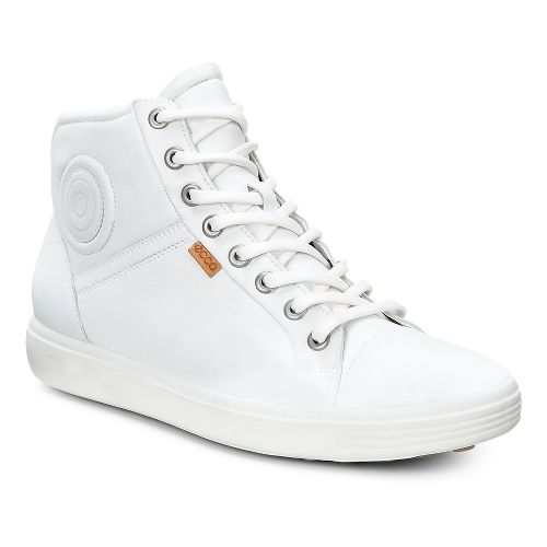 Womens Ecco Soft 7 High Top Casual Shoe - White 39