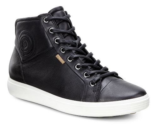 Womens Ecco Soft 7 High Top Casual Shoe - Black 41