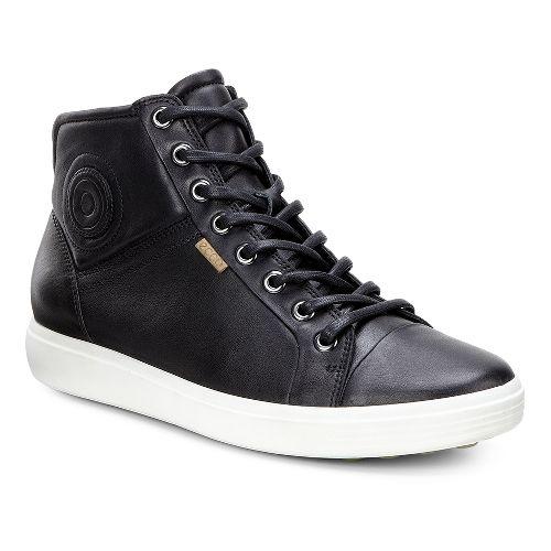Womens Ecco Soft 7 High Top Casual Shoe - Black 35