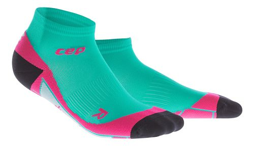 Womens CEP Dynamic+ Low Cut Socks Injury Recovery - Lagoon/Pink L