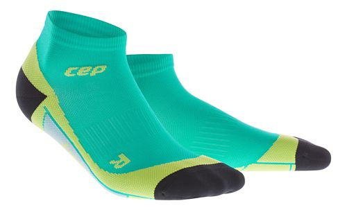 Mens CEP Dynamic+ Low Cut Sock Injury Recovery - Lagoon/Lime M