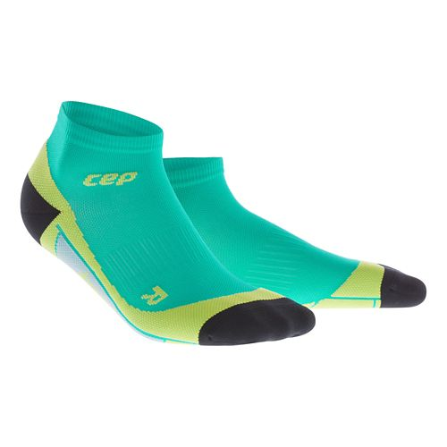 Mens CEP Dynamic+ Low Cut Sock Injury Recovery - Lagoon/Lime L