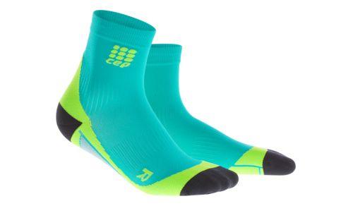 Mens CEP Dynamic+ Short Socks Injury Recovery - Lagoon/Lime XL