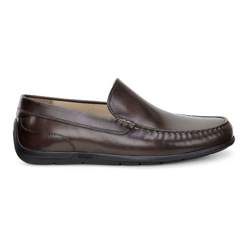 Mens Ecco Classic Moc Casual Shoe - Coffee 44