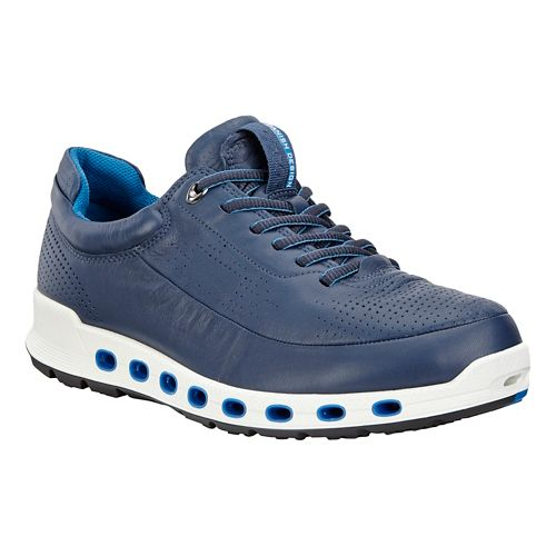 Mens Ecco Cool 2.0 Leather GTX Casual Shoe - True Navy 46