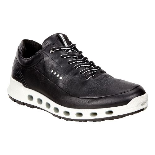 Mens Ecco Cool 2.0 Leather GTX Casual Shoe - Black 45