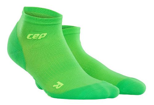Mens CEP Dynamic+ Run Ultralight Low-Cut Socks Injury Recovery - Viper/Green M