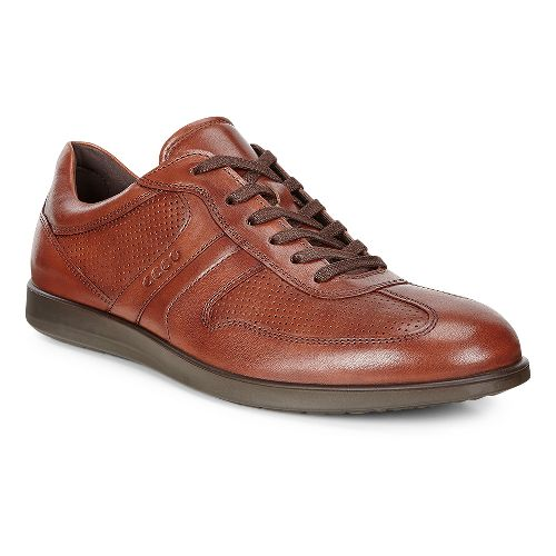 Mens Ecco Indianapolis Classic Tie Casual Shoe - Cognac 43