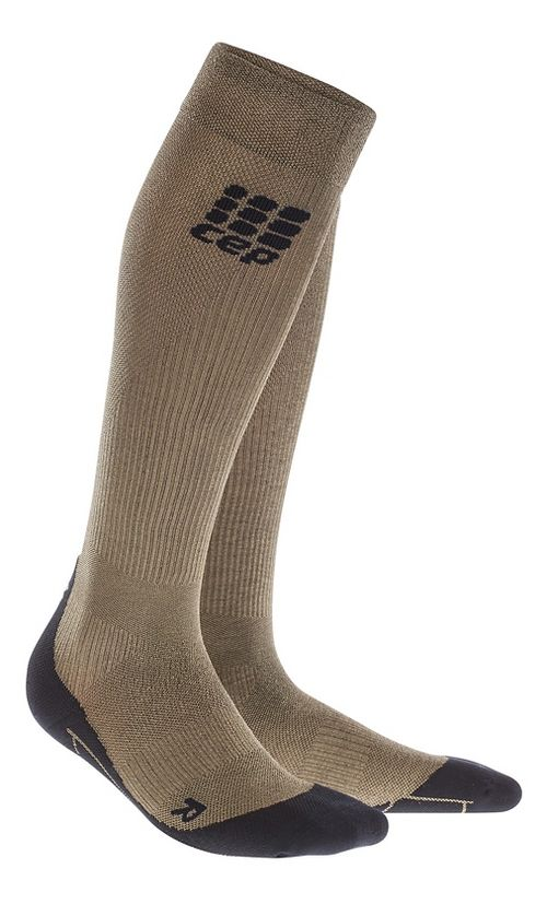 Mens CEP Metalized Socks Injury Recovery - Gold/Black L