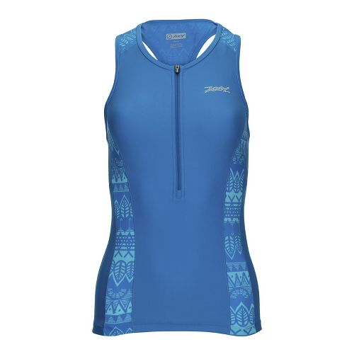 Womens Zoot Performance Tri Sleeveless & Tank Tops Technical Tops - Pacific Graffiti L