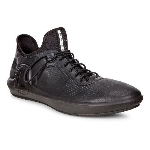 Mens Ecco Intrinsic 3 Leather Casual Shoe - Black 44