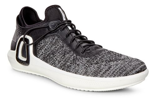 Mens Ecco Intrinsic 3 Textile Casual Shoe - Black/Concrete 47