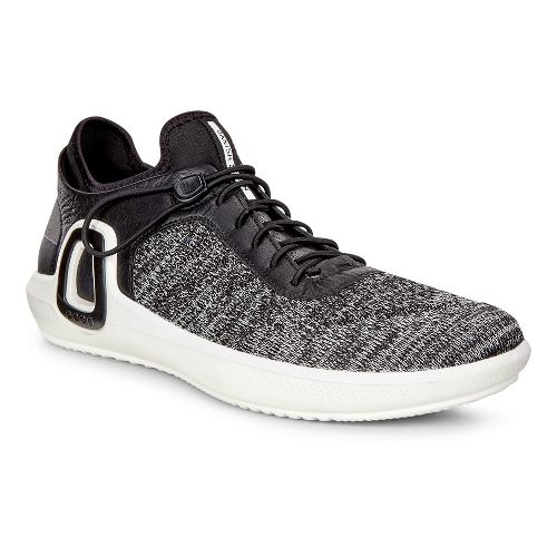 Mens Ecco Intrinsic 3 Textile Casual Shoe - Black/Concrete 40