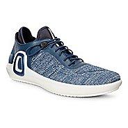 Mens Ecco Intrinsic 3 Textile Casual Shoe - True Navy/Concrete 40