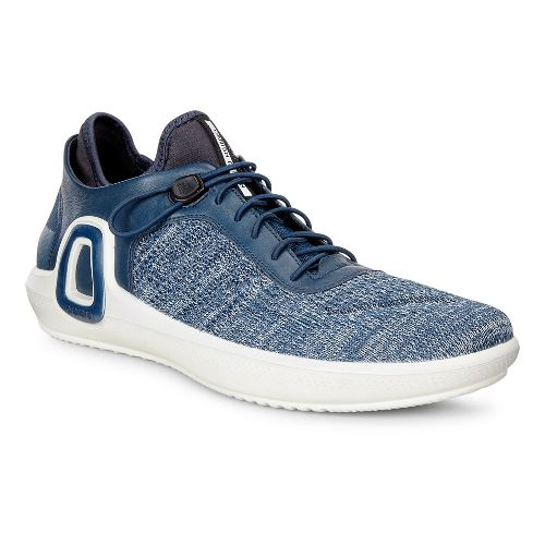 Mens Ecco Intrinsic 3 Textile Casual Shoe - True Navy/Concrete 47