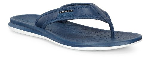 Mens Ecco Intrinsic Thong Sandals Shoe - True Navy 46