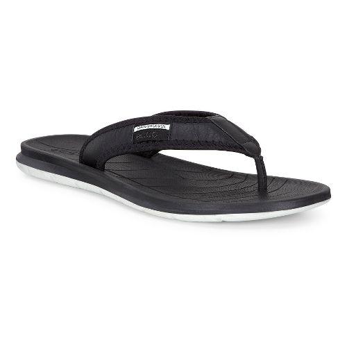 Mens Ecco Intrinsic Thong Sandals Shoe - Black 42