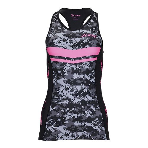 Womens Zoot Tri LTD Racerback Sleeveless & Tank Tops Technical Tops - High Viz Pink ...