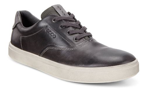 Mens Ecco Kyle Retro Sneaker Casual Shoe - Moonless/Titanium 43