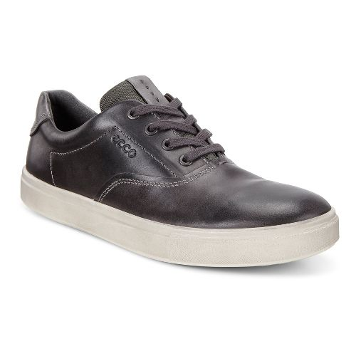 Mens Ecco Kyle Retro Sneaker Casual Shoe - Moonless/Titanium 43