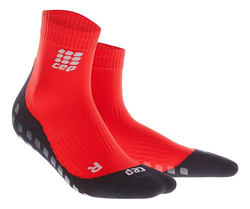 Mens CEP Griptech Short Socks Injury Recovery - Red XL
