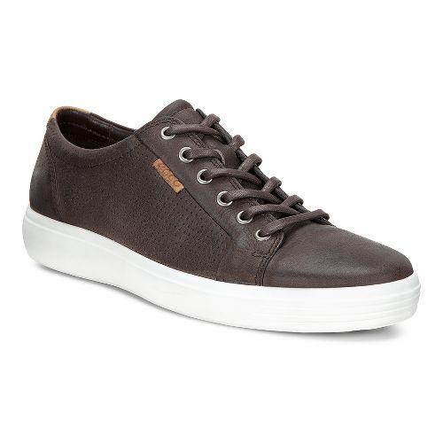 Mens Ecco Soft 7 Perf Tie Casual Shoe - Coffee 41