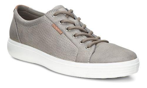 Mens Ecco Soft 7 Perf Tie Casual Shoe - Moon Rock 49