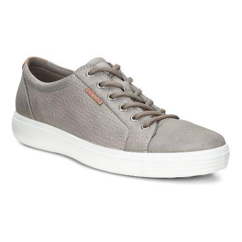 Mens Ecco Soft 7 Perf Tie Casual Shoe - Moon Rock 45